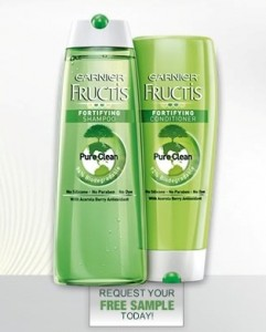 Garnier Fructis Free Sample Shampoo Conditioner