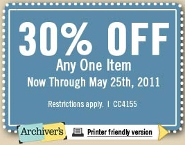 Archivers Coupon