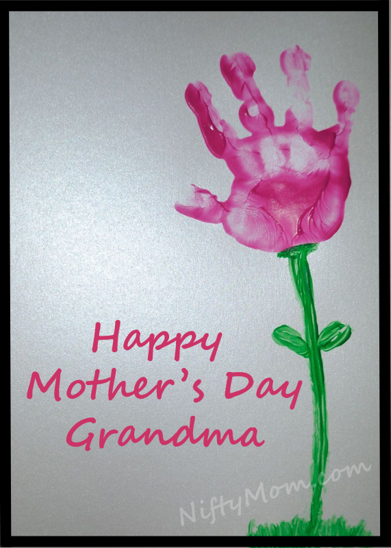 Mother 39 s day gift idea handprint flower Good ideas for mothers day card