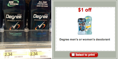 Cheap Degree Deodorant at Target