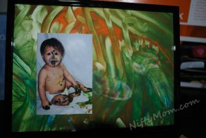 Finger Paint Father's Day Gift Idea