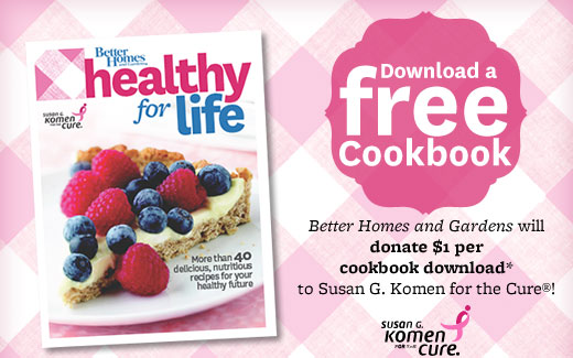 Better Home Gardens Healthy for Life Cookbook