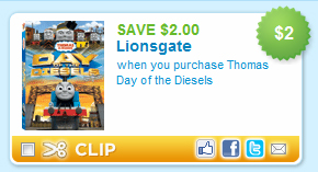 Thomas & Friends DVD Coupon