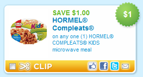 Hormel Kids Microwave Meals Coupon