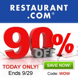 90% Off Restaurant.com