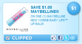Maybelline Babby Lips Coupon