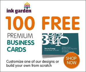 Ink Garden Free Business Cards