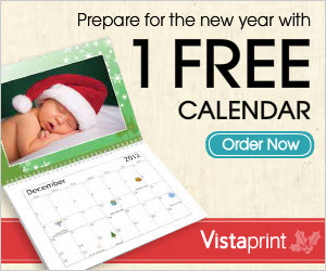 Free Vistaprint Photo Calendar
