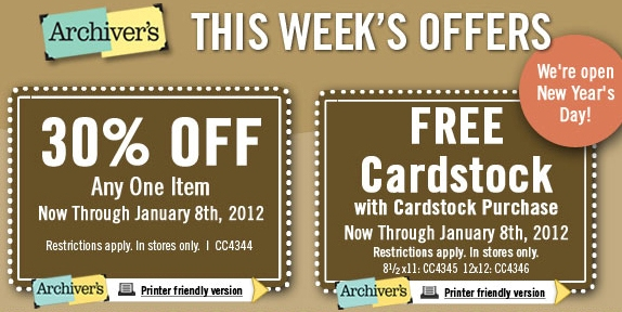 Archivers January Coupon