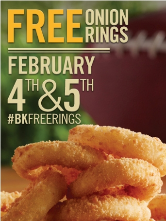 Free Onion Rings Burger King