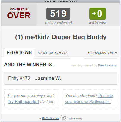 Winner of Diaper Bag Buddy