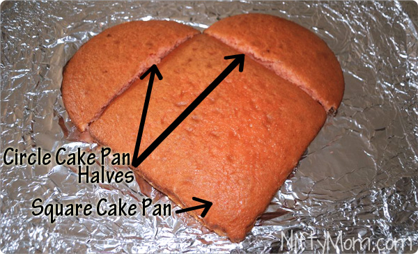 Easy way to Make a Heart Cake