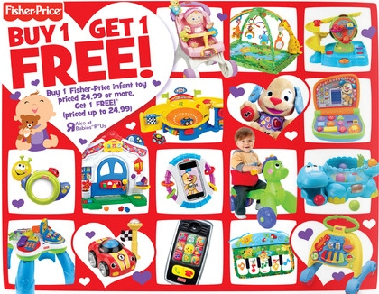 B1G1 FREE Fisher Price Toys