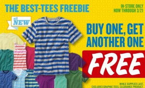 Old Navy BOGO Tees