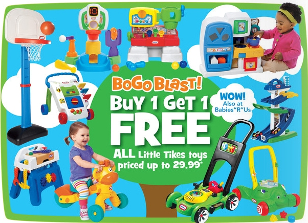Toys R Us BOGO Little Tikes