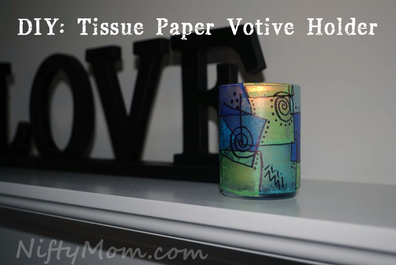 Tissue Paper Votive Holder