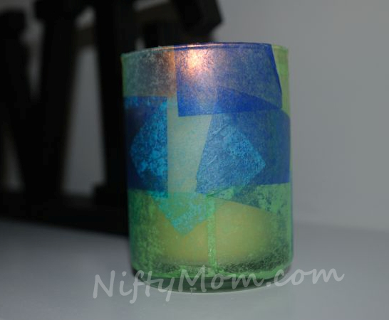 Votive Holder With Tissue Paper
