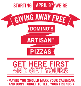 Free Dominos Pizza April Giveaway