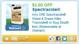 Printable coupon for Weed Killer or Bug Spray