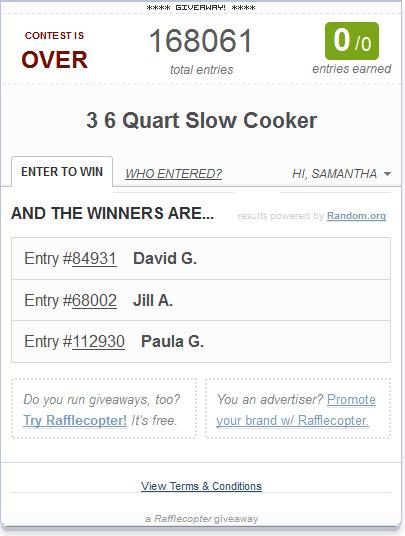 Slow Cooker Winners