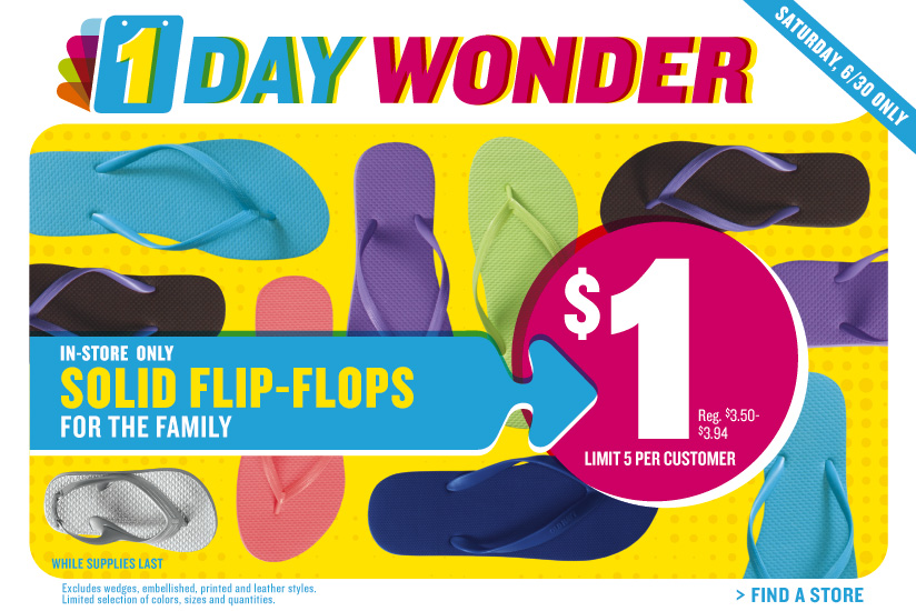 June Old Navy One Dollar Flip Flops