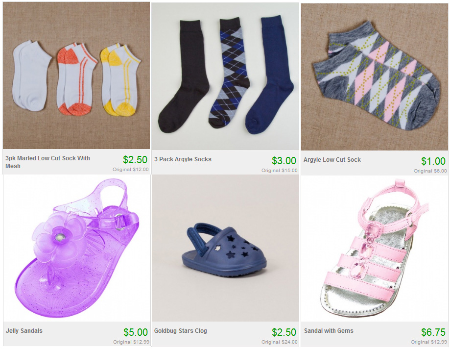 Socks and Shoe Sale on Totsy