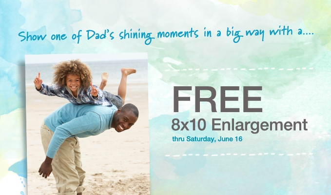 Free 8x10 at Walgreens June 2012