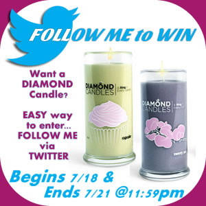Diamond Candle Giveaway Twitter