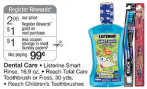 $0.99 Reach & Listerine Deal at Walgreens