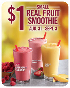 Burger King Labor Day Smoothie Promotion