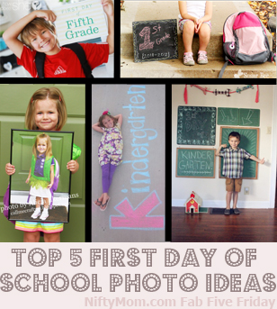 1st Day of School Picture Ideas