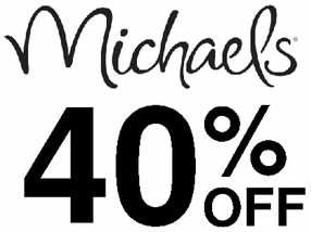 michaels 40% off