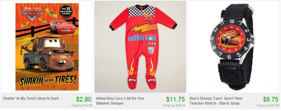 Disney Cars Discounted Items