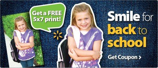 Free 5x7 Print from Walmart