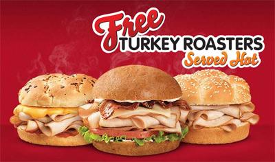 Arbys Free Sandwich Sepember 6