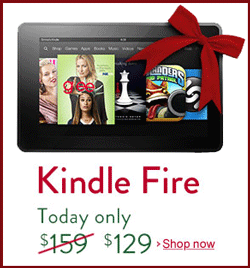 Cyber Monday Sale on Kindle Fire