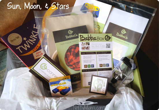 Sun Moon Stars BabbaBox Contents