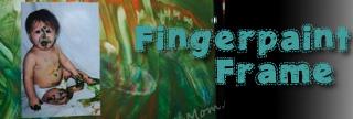 Kids Fingerpaint Picture Frame