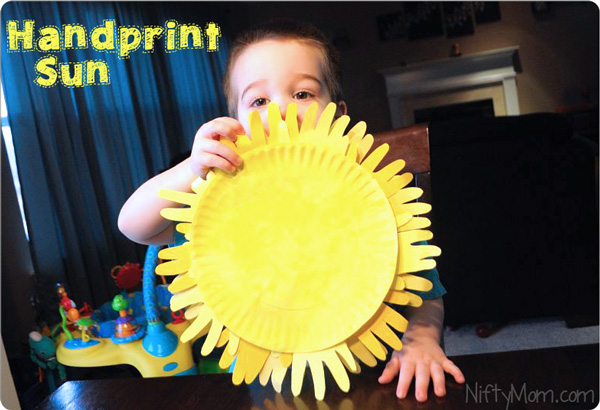 Handprint Summer Ideas for Kids
