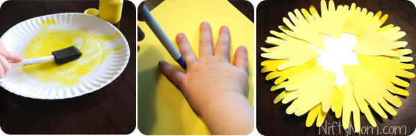 Make a Handprint Sun with Preschoolers