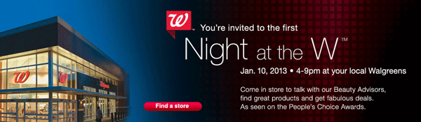 Walgreens Night at the W Event January 10