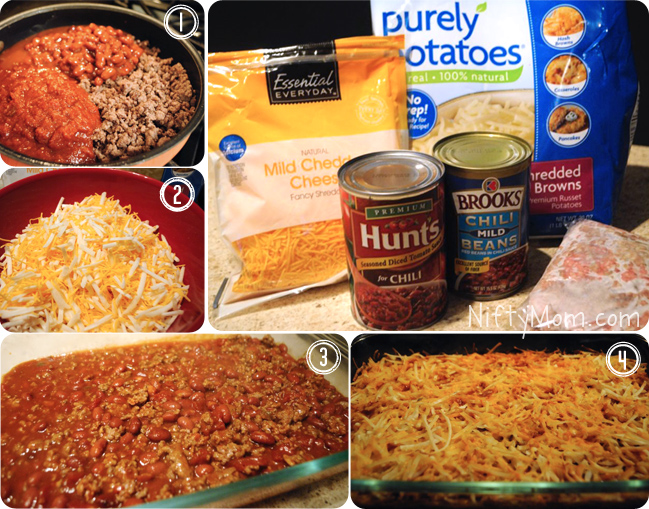 How to Make Cheesy Chili Hash Brown Bake