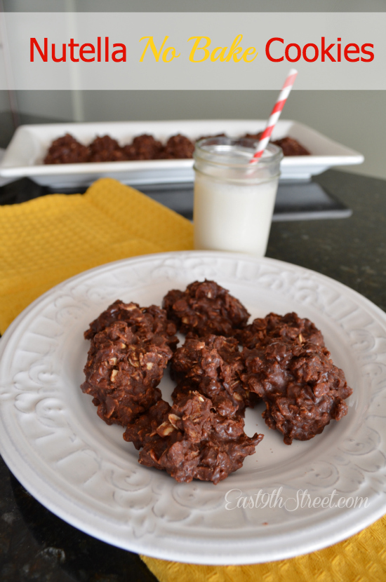 nutella nut cookies chocolate nutella cookies no bake nutella oatmeal ...