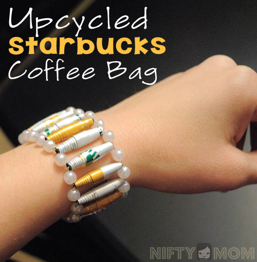 How to Upcycle a Starbucks Coffee Bag into a Gorgeous Bracelet #cbias #deliciouspairings