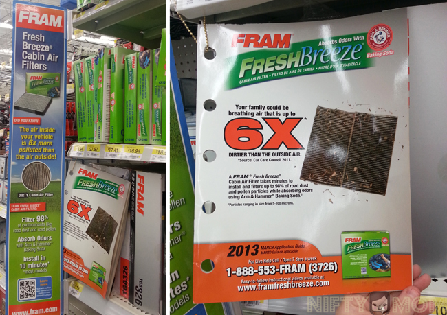 FRAM Fresh Breeze Cabin Air Filters at Walmart #FresherCar #cbias