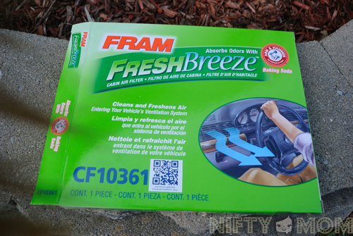 FRAM Fresh Breeze Cabin Air Filter #FresherCar #cbias