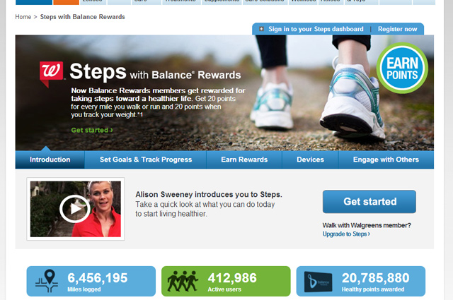 Steps with #BalanceRewards #cbias