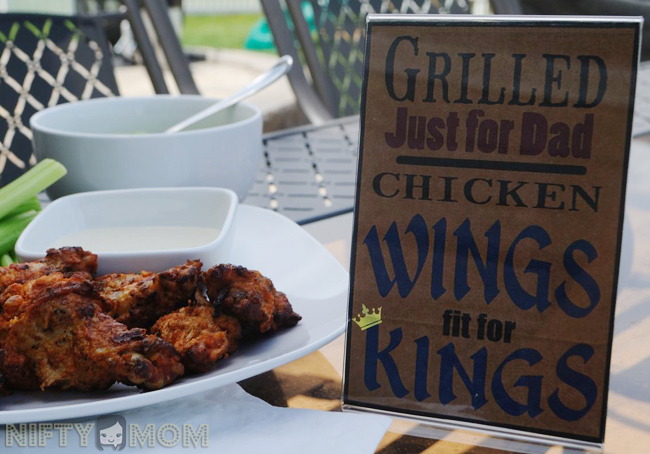 Grilled Just for Dad: Chicken Wings fit for Kings Printable #MealsTogether #cbias