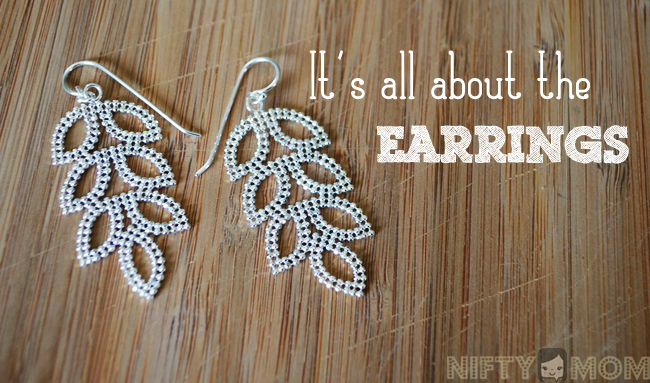 It's All About the Earrings with Blue Nile Leaf Chandelier Earrings
