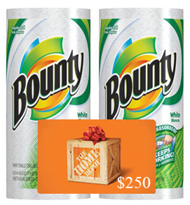 Enter to win $250 Home Depot Gift Card #BountyChallenge